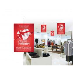 Affiche suspendu Saint Valentin
