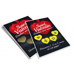 Cartes à gratter perdantes Saint Valentin