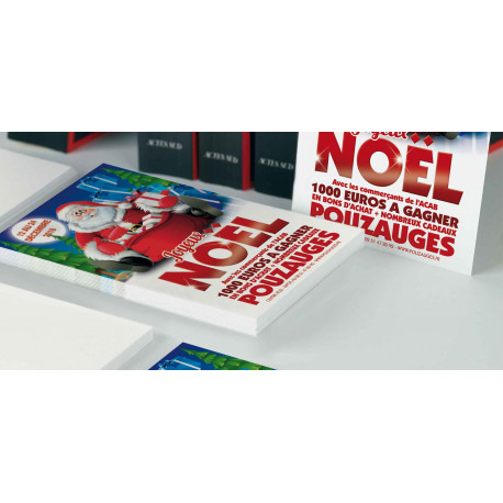 Tracts 21x29,7 Joyeux Noël Père Noël BD