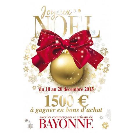 Affiches A2 (42x59,4 cm) Joyeux Noël Joyeuses Fêtes boule or
