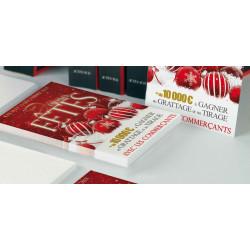 Tracts 21x29,7 Joyeuses Fêtes boules Rouge