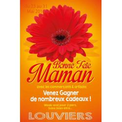 Tracts 15x21 Bonne Fête Maman fleur rouge