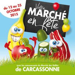 Tickets de tombola 10x10 Marché en Fête légumes