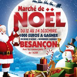 Tickets de tombola 10x10 Marché de Noël lune