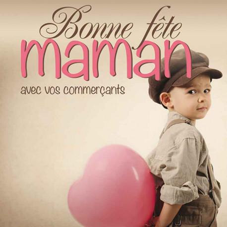 Tickets de tombola 10x10 Bonne Fête Maman petit garçon