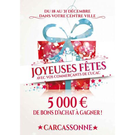 Tracts 21x29,7 Joyeuses Fêtes paquet cadeau multi