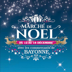 Tickets de tombola 10x10 Marché de Noël Bleu Nuit