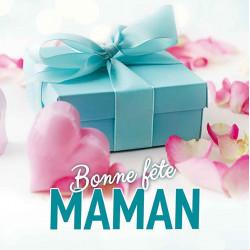Tickets de tombola 10x10 Bonne Fête Maman Cadeau bleu