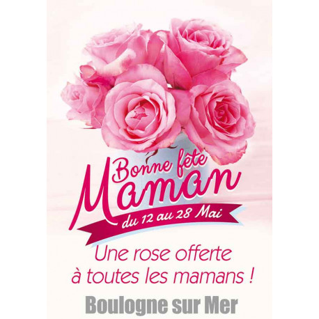 Tracts 21x29,7 Bonne Fête Maman Roses