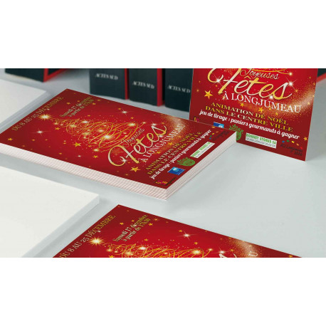 Tracts 21x29,7 Joyeuses Fêtes sapin or