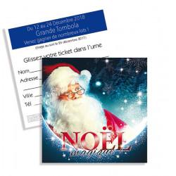 Tickets de tombola 10x10 Noël magique Père Noël