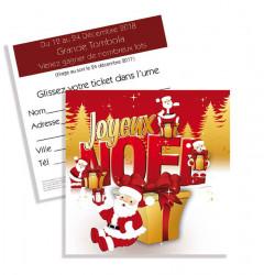 Tickets de tombola 10x10 Joyeux Noël