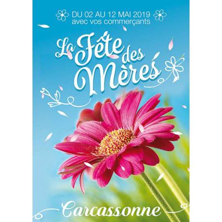 Affiche suspendu Bonne Fête Maman fleur rose