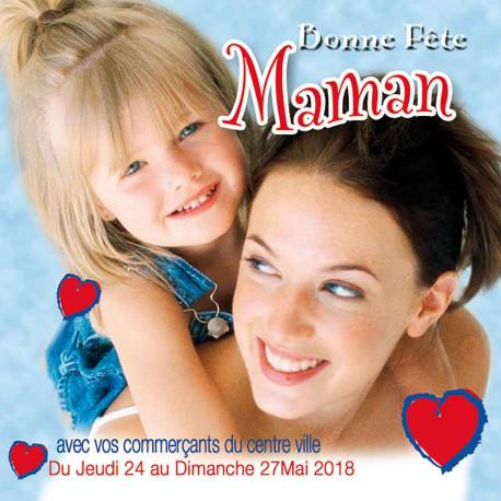 Tickets de tombola 10x10 Bonne Fête maman coeur