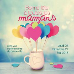 Tickets de tombola 10x10 Bonne Fête maman pot coeurs