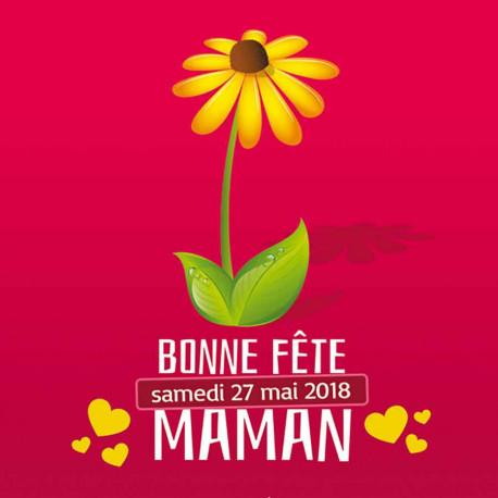 Tickets de tombola 10x10 Bonne Fête maman gerbera