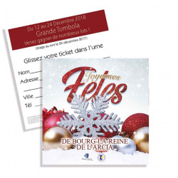Tickets de tombola 10x10