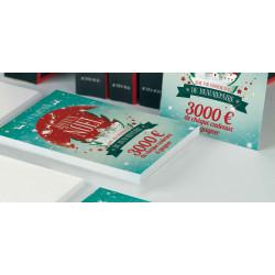 Tracts 15x21 Joyeux Noël petit village