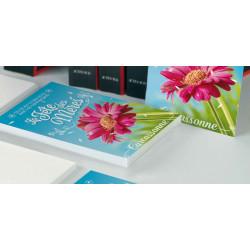 Tracts 15x21 Bonne Fête Maman fleur rose
