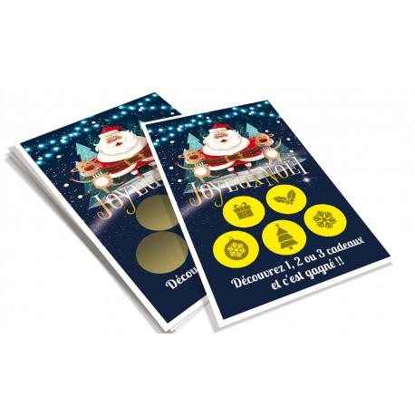 Cartes à gratter perdantes Noël