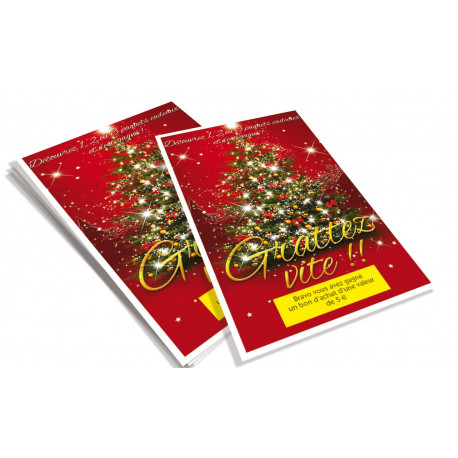 Cartes à gratter perdantes N17 - 1000 ex