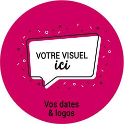 Stickers vitrine événementiel 30x30 cm
