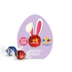 Chocolat Lindt dans un carton personnalisé