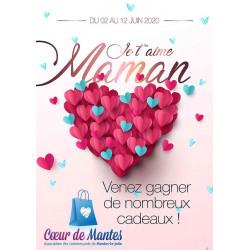 Affiches A2 (42x59,4 cm) Bonne Fête Maman coeur
