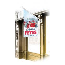 Drapeaux de façade spécifiques Joyeuses Fêtes Cadeaux