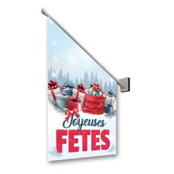 Drapeaux de façade Joyeuses Fêtes Cadeaux