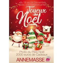 Affiches A3 (30x42 cm) Joyeux Noël Santa & Friends