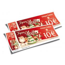 Chèques cadeaux classiques Joyeux Noël Santa & Friends