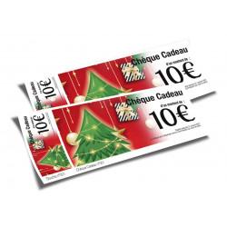 Chèques cadeaux classiques Joyeux Noël sapins