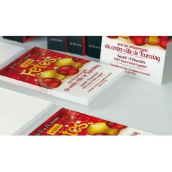 Tracts 15x21 Joyeuses Fêtes boules rouge et or