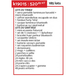 kit double chance 185 lots