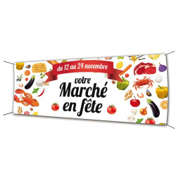 Banderole 200x80 Marché en Fête 2