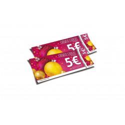 Chèques cadeaux sécurisés recto verso Joyeuses Fêtes boules rose