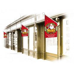 Drapeaux de façade Noël Santa Claus