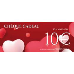 Chèques cadeaux sécurisés recto Opération Saint Valentin