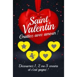 Cartes à gratter gagnantes niveau 2 Saint Valentin