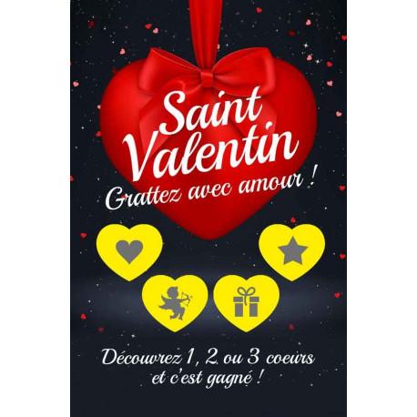 Cartes à gratter gagnantes niveau 1 Saint Valentin