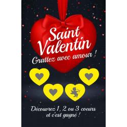Cartes à gratter gagnantes niveau 3 Saint Valentin