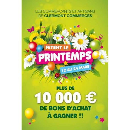 Affiche suspendu Fête du Printemps