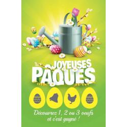 Cartes à gratter gagnantes niveau 2 Joyeuses Pâques arrosoir