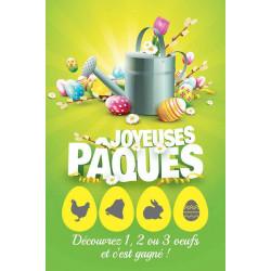 Cartes à gratter gagnantes niveau 1 Joyeuses Pâques arrosoir