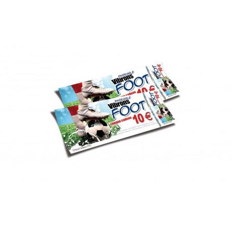 Chèques cadeaux sécurisés recto FOOT
