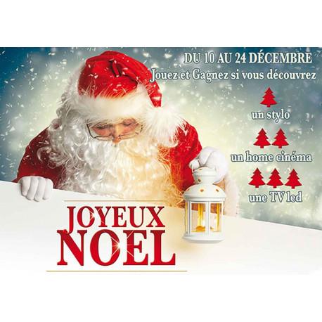 Affiches explicatives Joyeux Noël Père Noël lanterne