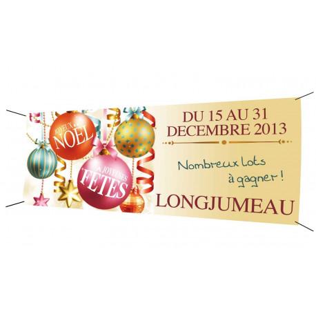 Banderole 200x80 Joyeux Noël Joyeuses fêtes
