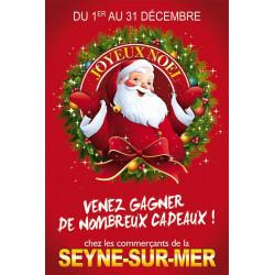 Affiches A2 (42x59,4 cm) Joyeux Noël Santa Claus