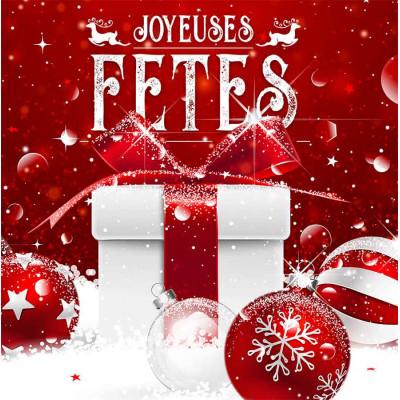 Joyeuses Fêtes paquet cadeau